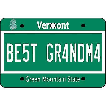 Vermont - Best Grandma License Plate Car Air Freshener