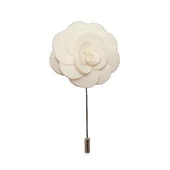 Witte handgemaakte bloem/Rose revers Pin voor het dragen met mannen pak jasje, blazer, diner jacket of Smoking jasje