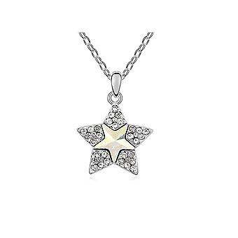 Anheng star Crystal Swarovski Element hvit