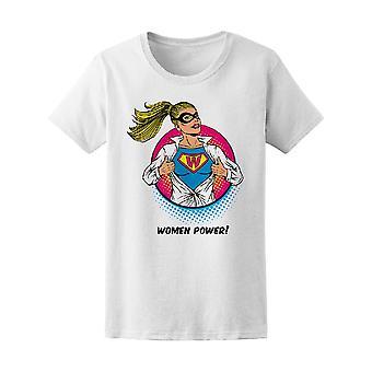 Pop Art Women Power Superhero Tee Women's -Image by Shutterstock