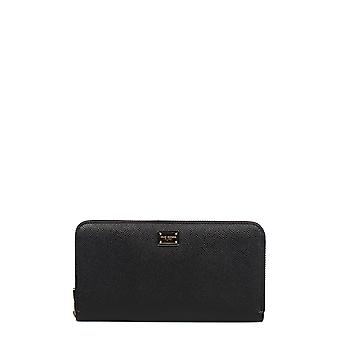 Dolce E Gabbana women's BI0473A71588S193 black leather wallets