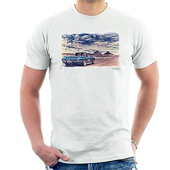 Chevrolet Corvette Stingray Convertible Desert Filter White Men's T-Shirt