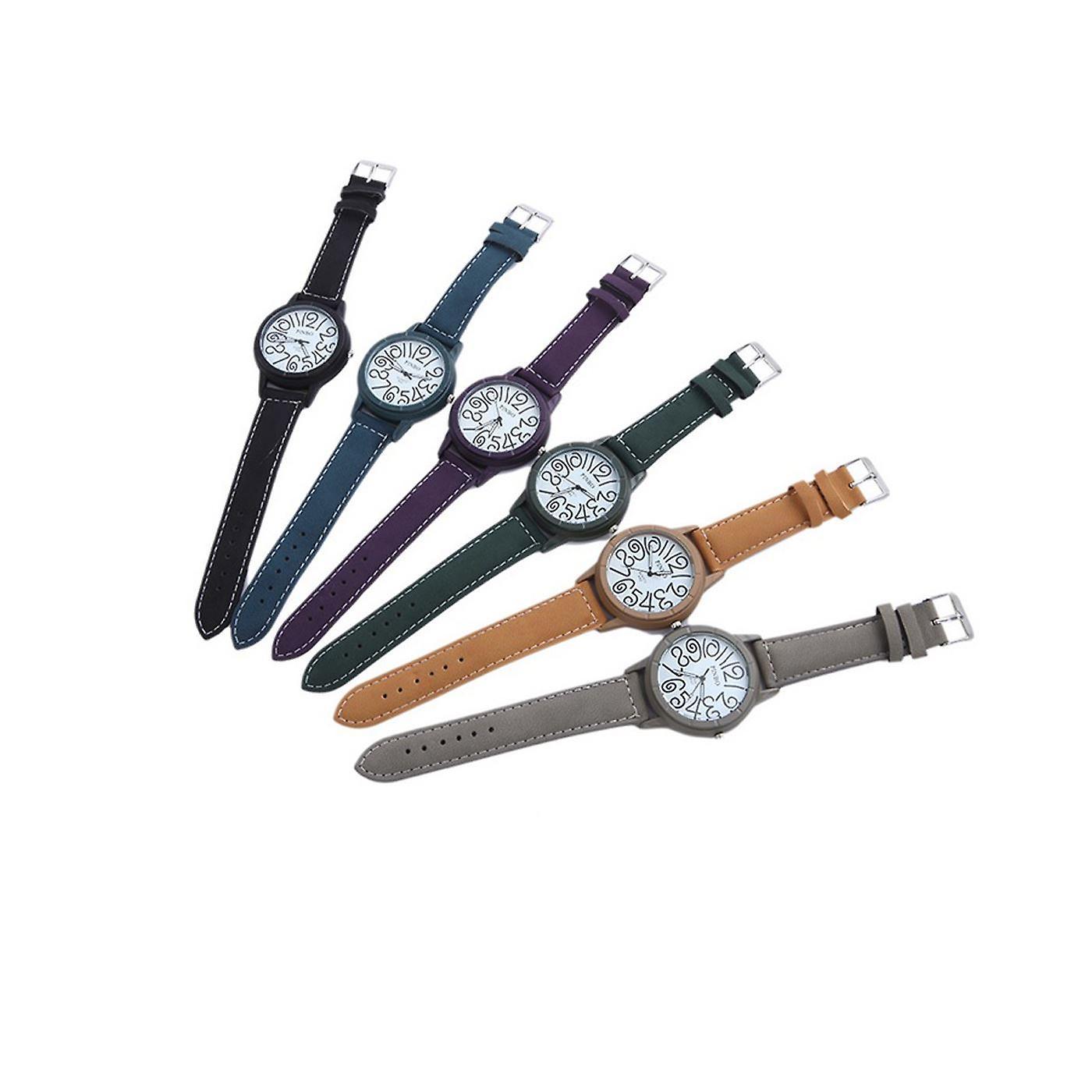 Smart Funky Watch Purple Clear Time Fashion Clock