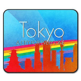 Гордость любви городских Токио не нескользкие мыши коврик коврик 24 см х 20 см   Wellcoda