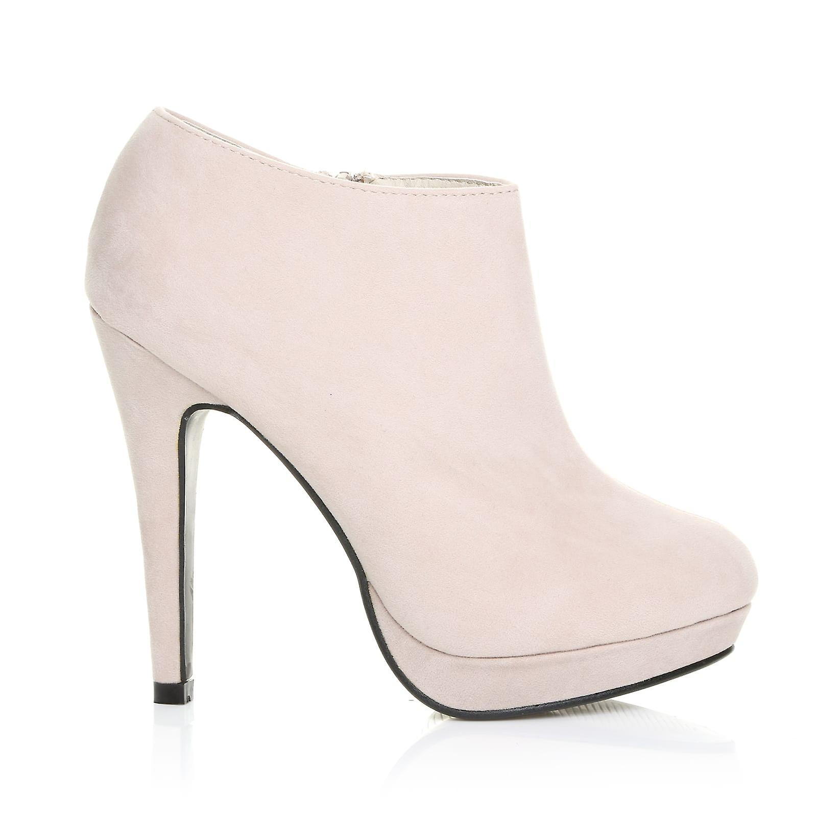 H20 Nude Faux Suede Stilleto Shoe Very High Heel Ankle Shoe Stilleto Boots 8325c9