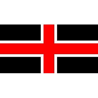 Durham City Flag 5ft x 3ft With Eyelets For Hanging