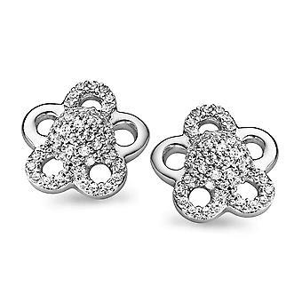 Orphelia Silver 925 Earring Flower Pearl Zirconium  ZO-5096