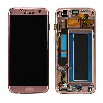Display LCD Komplettset GH97-18533E Rose Gold Pink für Samsung Galaxy S7 Edge G935 G935F