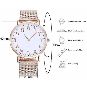 Rose guld arabisk Dial Watch