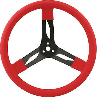 QuickCar Racing Products 68-0031 Mount Racing Steering Wheel with Red Rubber Grip