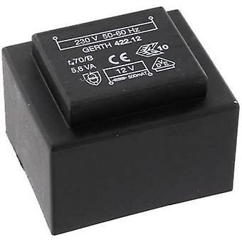 PCB mount transformer 1 x 230 V 2 x 30 V AC 5.60 VA 93 mA