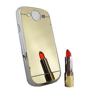 Specchio mobile specchio copertina morbida custodia protettiva custodia per Samsung Galaxy S3 / S3 neo oro