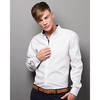 Kustom Kit Contrast Premium Oxford Shirt - KK190