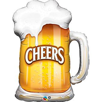 Qualatex 35 Inch Cheers Beer Mug Design Foil Balloon