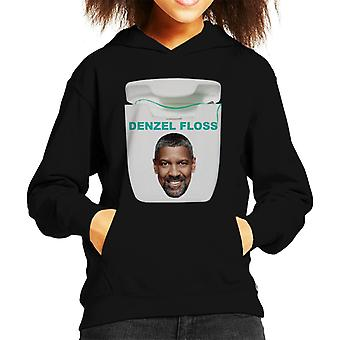 Denzel Washington Floss Play On Words Kid's Hooded Sweatshirt