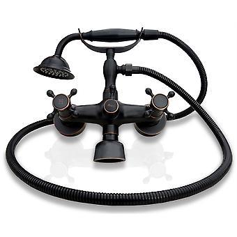 Винтажные Ванна кран смеситель ванной кран ретро старый черный с душем