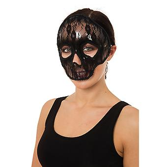 Calavera ojo máscara encaje