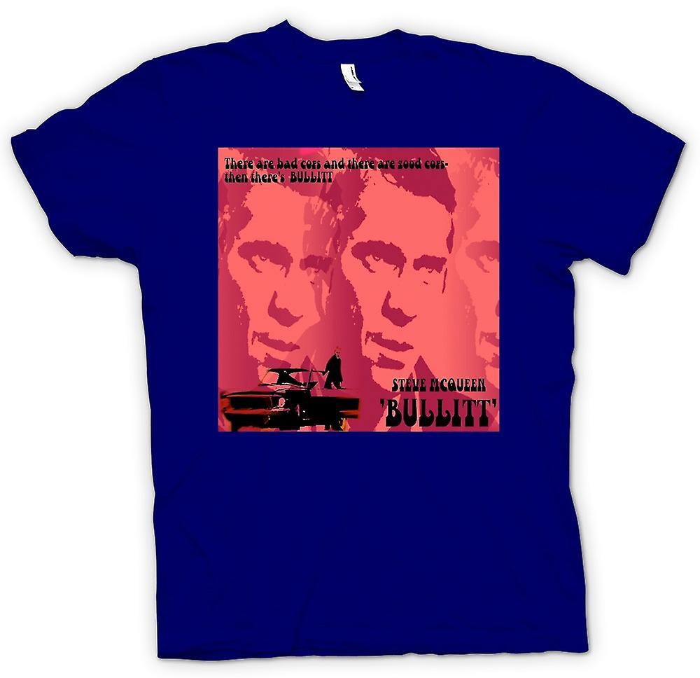 Mens T-shirt - Steve McQueen Bullit Good Cop