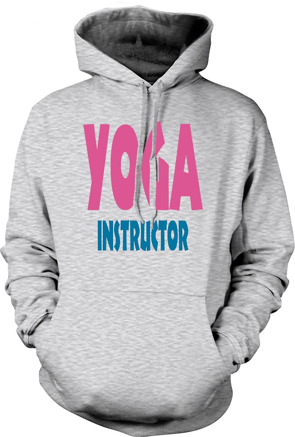 Mens Hoodie - Yoga instruktör Martial Art - Slogan