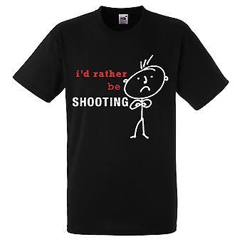 Mens I'd Rather Be Shooting Black Tshirt