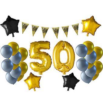 50 år med födelsedagsballongkit