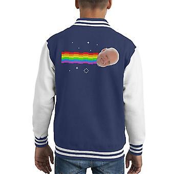 Harold verbergen de pijn Nyan Cat Meme Kid's Varsity Jacket