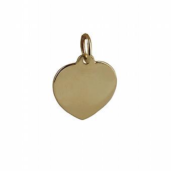 9ct золота 14х14мм простые сердца диск