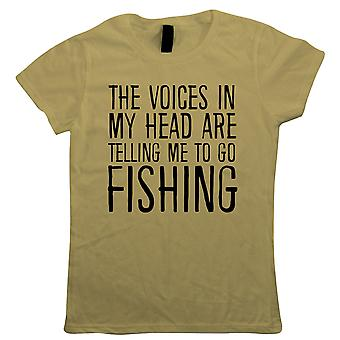 Voices In My Head Go Fishing, Womens T Shirt