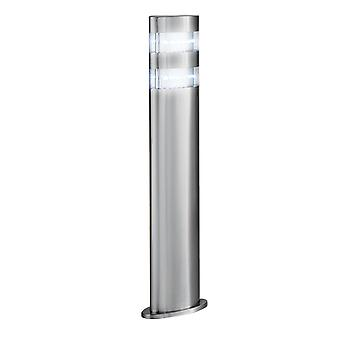 Satin Silber 24 LED Outdoor Poller Licht - Searchlight 5304-450