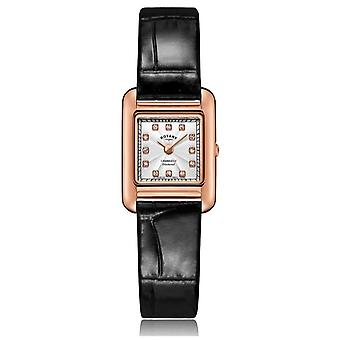Rotary   Ladies Black Leather Strap   Rose Gold Case   LS05289/70/D Watch