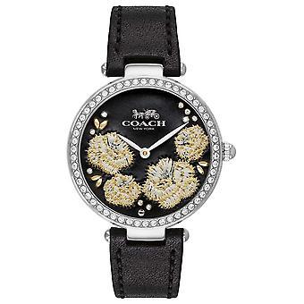 Coach | Womens Park | Black Leather Strap Black Dial 14503283 Watch
