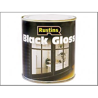 Rustins Gloss Paint Black 1 Litre
