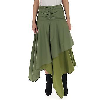 Loewe Green Cotton Skirt