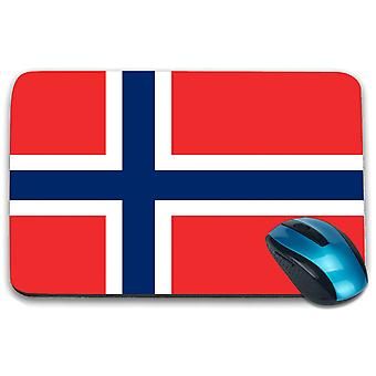 i-Tronixs - Norway Flag Printed Design Non-Slip Rectangular Mouse Mat for Office / Home / Gaming - 0130