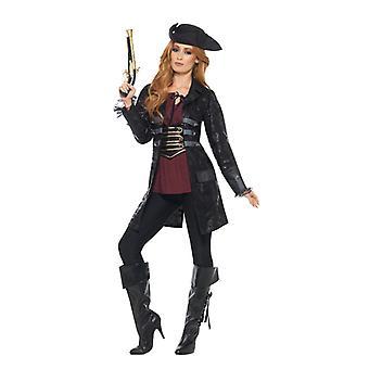 Zwarte dames piraat Jack vacht carnaval carnaval