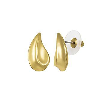 Evige samling Avalon klassiske guld Tone Stud gennemboret øreringe
