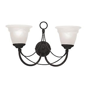 Elstead CB2 BLACK Carisbrooke Gothic Black Double Wall Light with Optional GS81 Glass