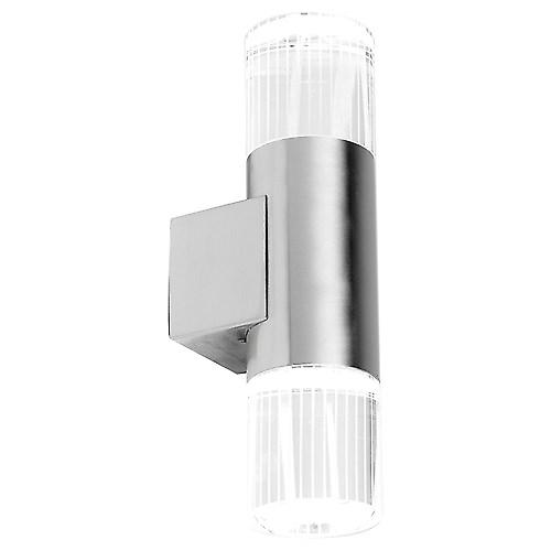 Endon YG-7501 Modern Stainless Steel Outdoor Twin Led Crystal Wall Lantern