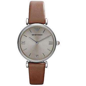 Emporio Armani Armani Ar1679 Classic Retro Brown Leather Ladies Watch