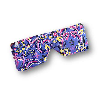 Alpana Silk Lavender Linseed Soothing Eye Pillow: Purple
