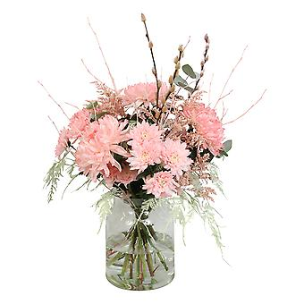 Bunch of flowers - coral | Height: 60 cm