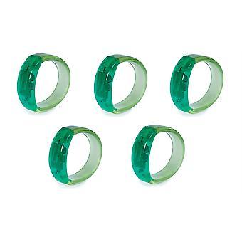 5 X Gel Stone Bracciale Light-up - Verde - 5 Articoli In Dotazione