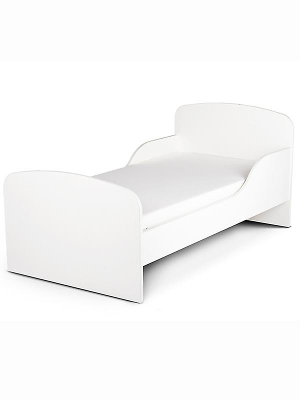 PriceRightHome Plain blanc Toddler Bed