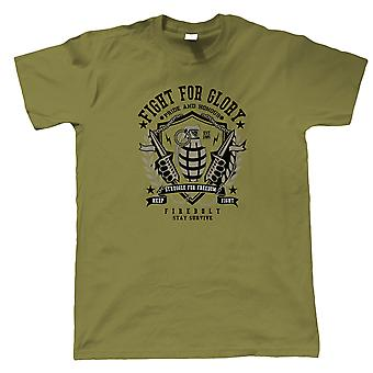 Grenade Mens Military T-Shirt | Army Medic War Combat Warfare Soldier Forces Armed | Ideal Top Father Mother Day Wife Husband Mum Dad | Military Gift Him Dad