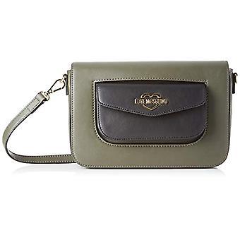 Love Moschino Calf Pu Women's Crossneck Bag (Green/Black) 15x5x24 cm (W x H x L)