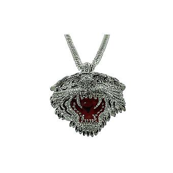Pendant with chain Cz platinum Ed Hardy Tiger