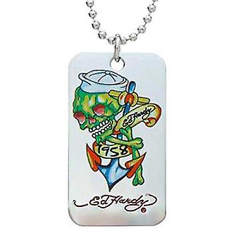 Necklace Silver Ed Hardy Skull