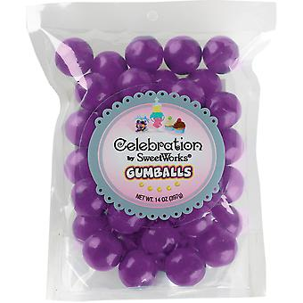 Gumballs Stand-Up Bag 14oz-Purple SCGUM14-05405