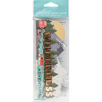 Jolee's Boutique Title Waves Dimensional Stickers-Wilderness Adventure E5060524
