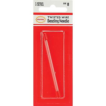 Twisted Wire Beading Needles 5 Pkg Size 8 Cb Tw 8